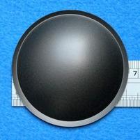 Plastick stofkap van 65 mm, kleur: grijs