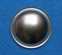 Silver colored dust-cap, made of plastic - Diameter 20 mm