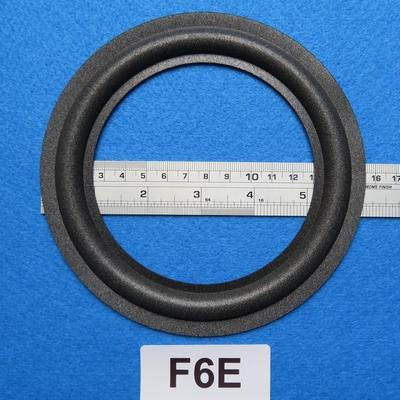 Foamrand van 6  inch, voor een conusmaat van 11,5 cm (F6E)