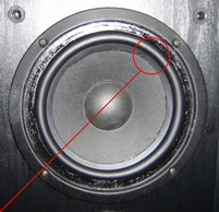 Rubber ring (6 inch) for Magnat 145 120 woofer