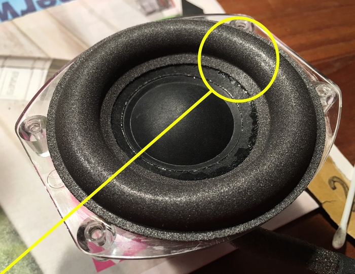 Foam ring for JBL On Stage 400P woofer