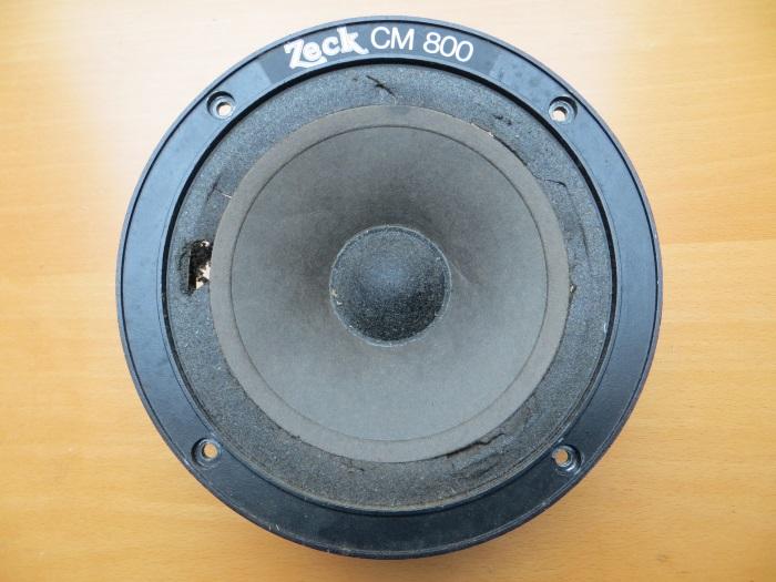 Reparatur mit einem hausgemachten flache Schaumstoff Sicke: Der Zeck CM800 Mitteltöner mit einem verschlechterten Schaumsicke