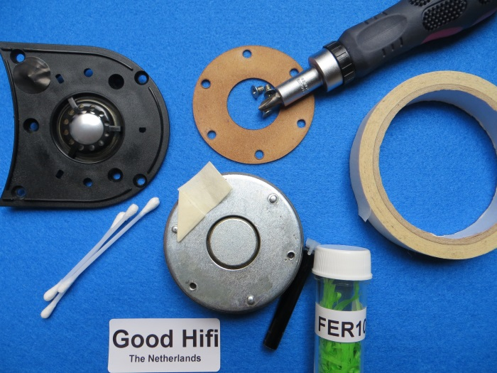 Ferrofluid in Hochtöner erzetzen: Es ist wichtig, dass Sie diese Reparatur in einem sauberen / staubfreien Umgebung durchführen