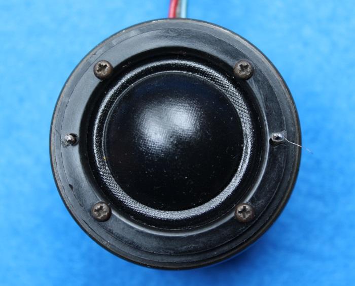 B&W N801S (TS26 80) Hochtöner Reparatur: Ziehen Sie die vier Schrauben fest, dies muss nicht zu fest sein