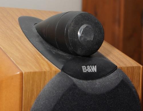 B&W ZC12092 tweeter replacement: the damaged tweeter in a B&W CDM1NT