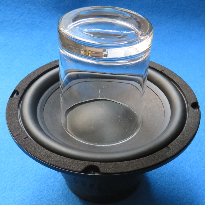 Speaker dust cap replacement - Place a weight on the dust cap