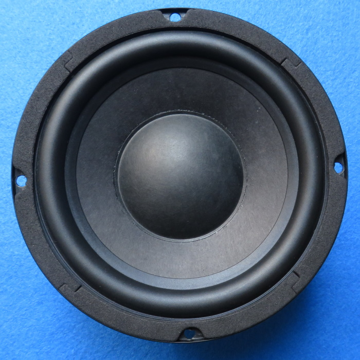 Speaker dust cap replacement - the woofer after we replaced the dust cap