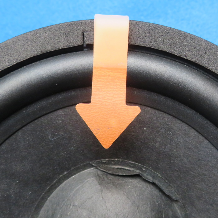 Speaker dust cap replacement - remove the dust cap from the edge to the center