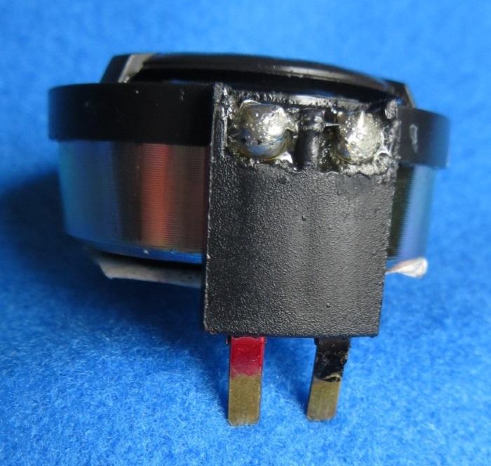 B&W CDM1 (ZZ9989 / ZZ09989) tweeter repair: the connectors of the tweeter