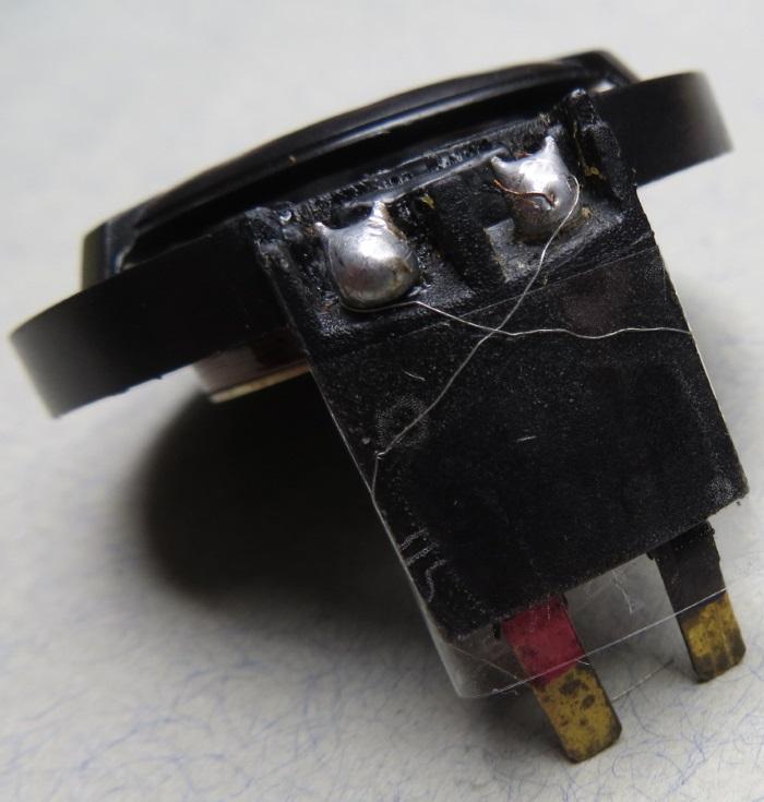 B&W CDM1 (ZZ9989 / ZZ09989) tweeter repair: diaphragm wiring attached to the tweeter connectors