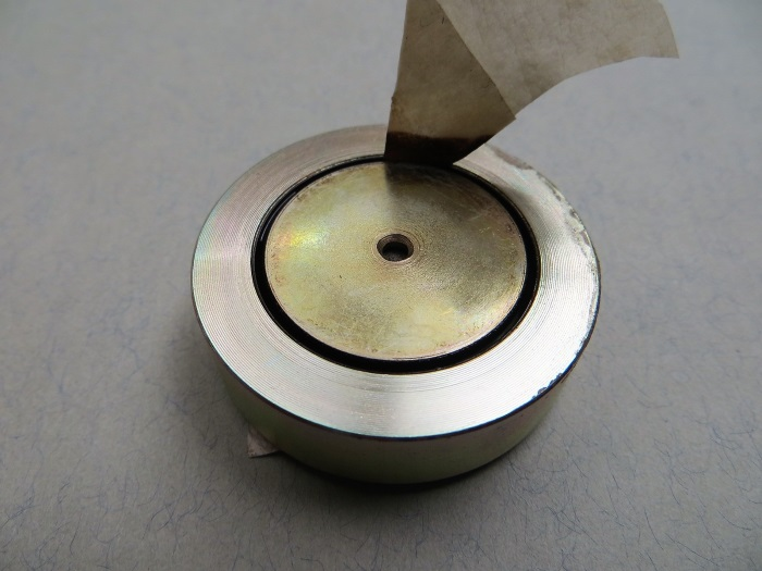 B&W CDM1 (ZZ9989 / ZZ09989) tweeter repair: remove the old ferrofluid from the magnet gap