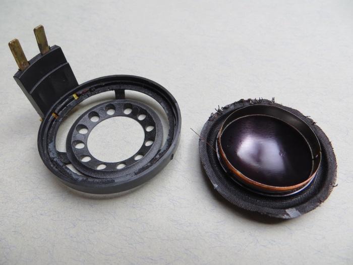 B&W CDM1 (ZZ9989 / ZZ09989) tweeter repair: tweeter frame and broken diaphragm