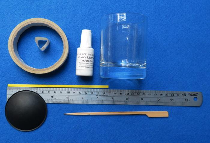 Luidspreker stofkap vervangen - benodigde materialen