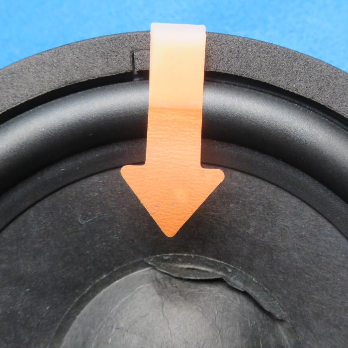 Luidspreker stofkap vervangen - verwijder de oude stofkap van de rand naar het midden