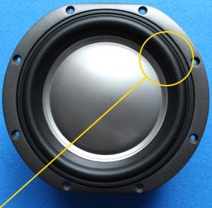 rubber rand voor de B&W DM603 S3 woofer